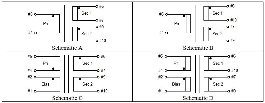 bobbin type 2 & available schematics: